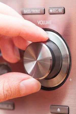 amplifier: Hand on Sound volume control knob