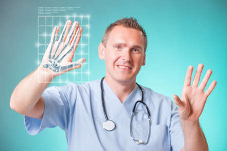 Future doctor x-ray of hand photo