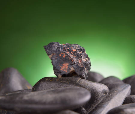 tourmaline: Black tourmaline natural crystal Stock Photo