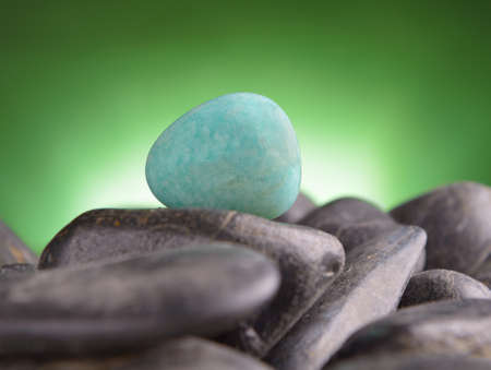 amazonite: Amazonite also called Amazon stone natural crystal on amethyst rock
