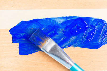 Painting with masking tape also known as sticky tapy Banco de Imagens