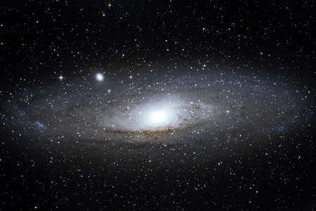 andromeda: M31 Andromeda spiral galaxy placed about 2,5 million light years from Earth