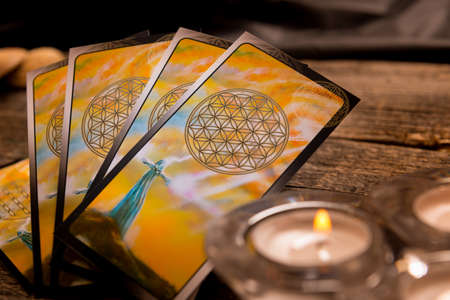 psychic: Tarot cards and other fortune tellers accessories