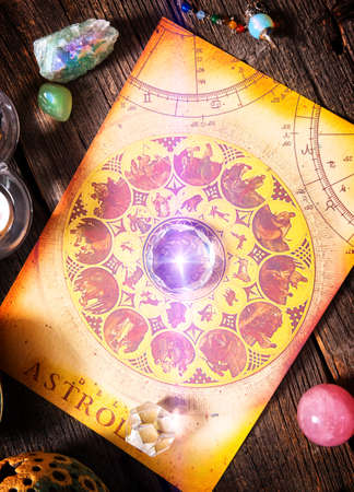 Foretelling the future through astrology Banque d'images