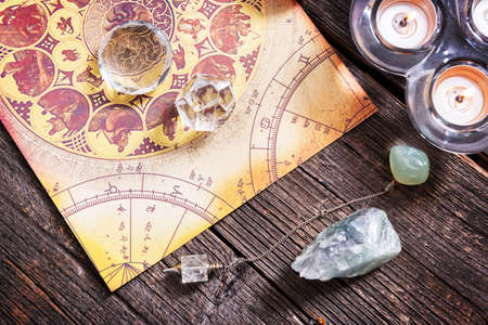 Foretelling the future through astrology 스톡 콘텐츠