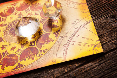 psiquico: Predecir el futuro a través de la astrología Foto de archivo