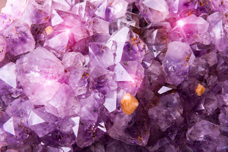 crystallized: Detailed natural amethyst crystallized structure