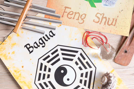 ancient philosophy: Conceptual image of Feng Shui with five elements