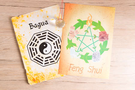 fengshui: Conceptual image of Feng Shui with five elements