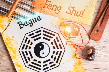 five objects: Conceptual image of Feng Shui with five elements