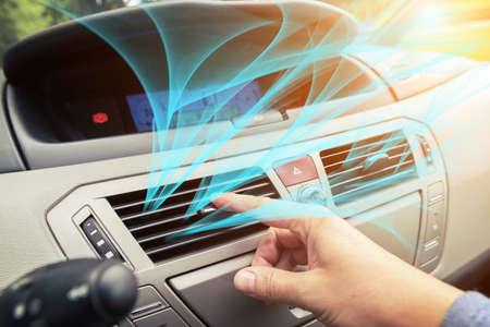 ドライバー手チューニング空気換気グリル、新鮮な空気が出ています。