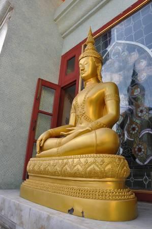 awakened: Seated Buddha image Stock Photo
