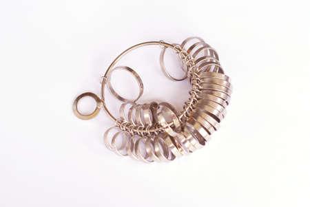 jeweler: jeweler s ring sizer Stock Photo