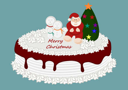 Christmas Cake Stock Vector - 22077687