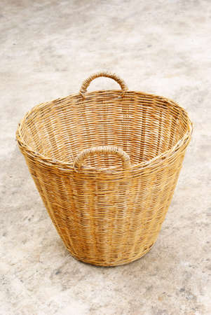 Close up wicker basket photo