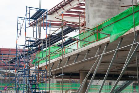 scaffolding, framework on construction site photo