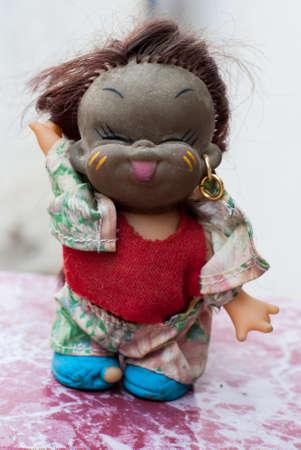dark skin: african dark skin doll, toy