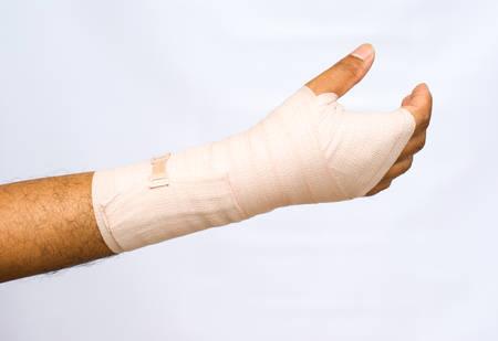 elbow bandage support: Bandage Medical concept