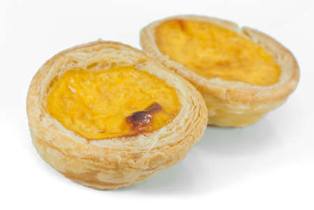 Egg Tarts on white dish photo