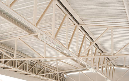 joist: steel truss, construction of roof
