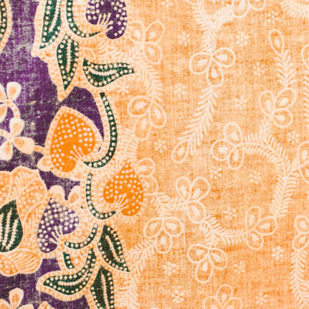 Colorful batik cloth fabric  photo