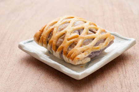 Taro Pie with, relaxing time photo