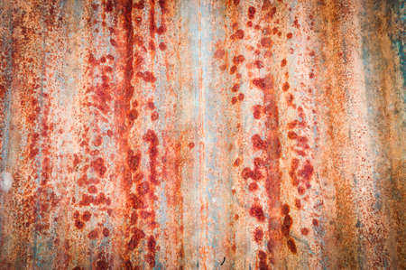 Rusted galvanized iron plate photo