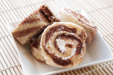 swiss roll: swiss roll Stock Photo