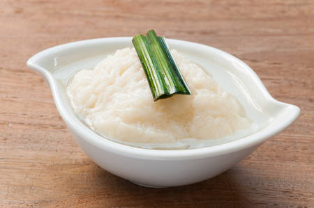 sweetmeat: Kaomark, sweet fermented rice, a sweetmeat consisting of fermented glutinous rice