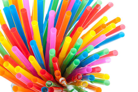 Multi Color flexible straws photo
