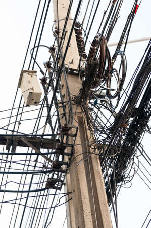disorganization: Electrical wiring.