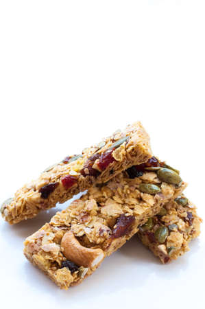 germinate: Healthy Snack : Cereal Bars : germinate rice whole grains with fruits on white background, Multigrain Bar