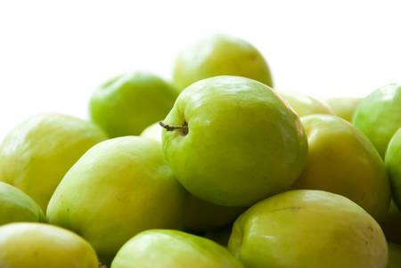 jujube fruits: fresh green jujube Stock Photo