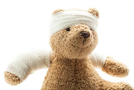 sickbed: Teddy Bear with Bandage