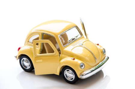 collectible: BANGKOK THAILAND april 11 2015: Collectible toy model car Volkswagen Beetle. Editorial