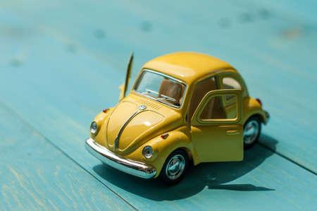 BANGKOK THAILAND april 5 2015: Collectible toy model car Volkswagen Beetle.