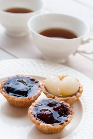 Tart and tea photo