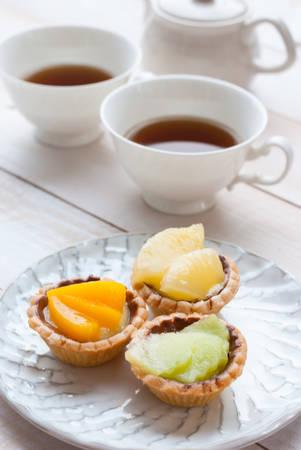 Cake and tea photo