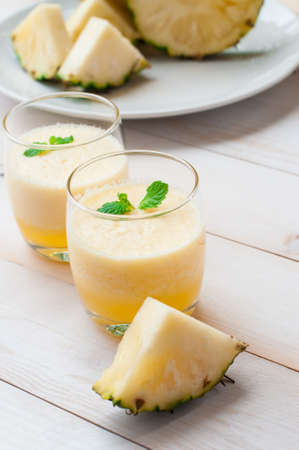 cordial: pineapple smoothie and Watermelon smoothie