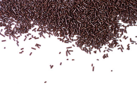 chocolate sprinkles: Background texture of chocolate sprinkles.