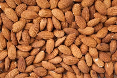Peeled almonds closeup. For vegetarians.
