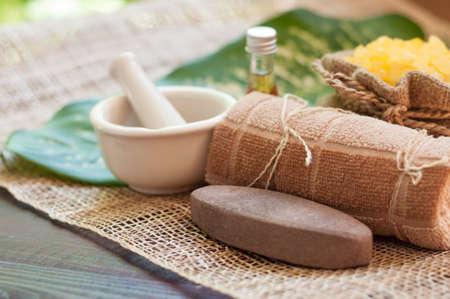 tratamientos corporales: tratamientos de spa y masajes. Foto de archivo