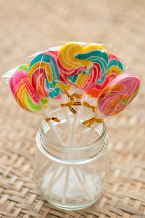 lolli: colorful lollipops on white background