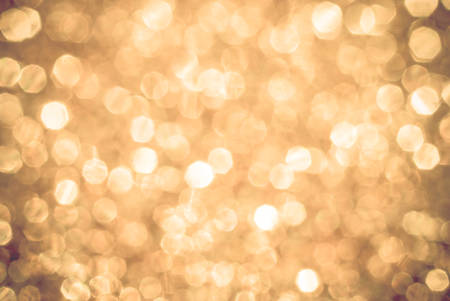 yellow white boken background lights, blurred out of focus, shiny glittery lights or circle shapes, Christmas background