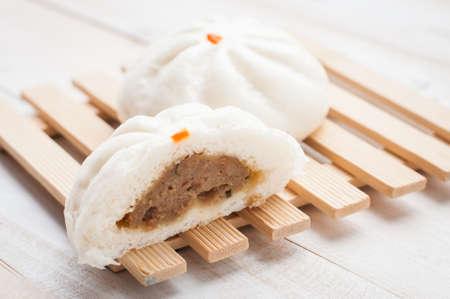 Steamed BBQ Pork Buns, chinese bun