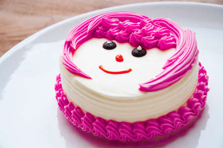 cream on cake: Blanco crema pastel con caf�