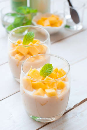 マンゴーのパンナコッタ、イタリアのデザート