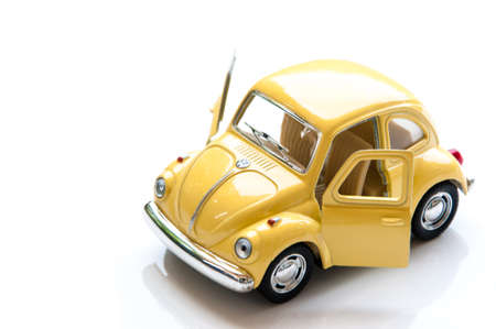 collectible: BANGKOK, THAILAND -april 11, 2015: Collectible toy model car Volkswagen Beetle. Stock Photo