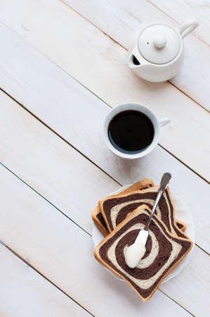 addictive drinking: Overhead view of a freshly brewed mug of black coffee