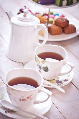 drink tea: Afternoon tea, soft tone